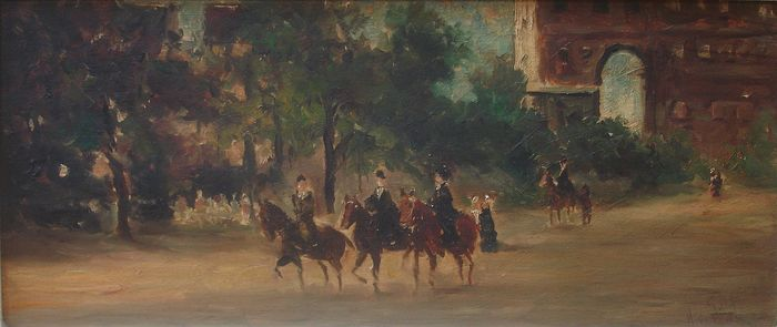 Monogrammed 20th century - Horse riding in Hyde Park