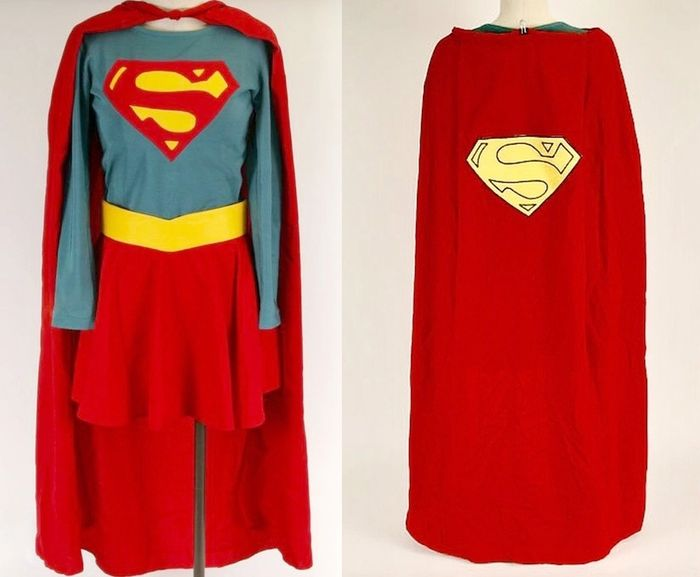 "Supergirl (1984)  - Production made ""Supergirl"" costume for actress Helen Slater in the title role by Bermans & Nathans, London - with Coa"