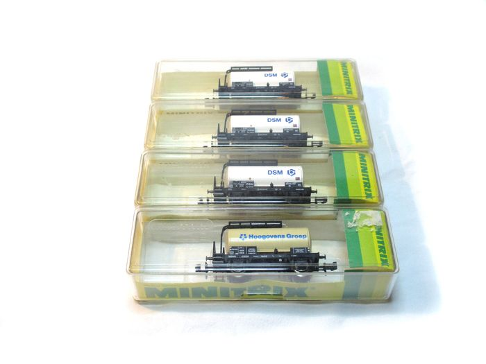 Minitrix N - 13289/13599  - Freight carriage - Tank wagons 'DSM' and 'Blast furnaces' - NS
