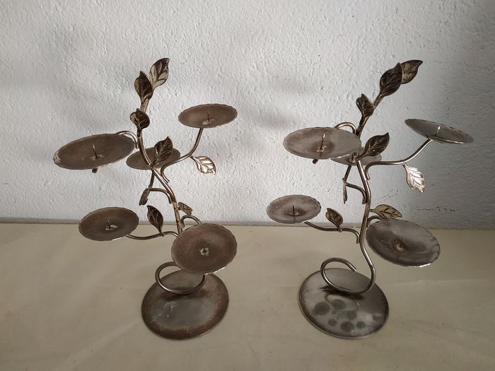 Couple of candlesticks - Silverplate