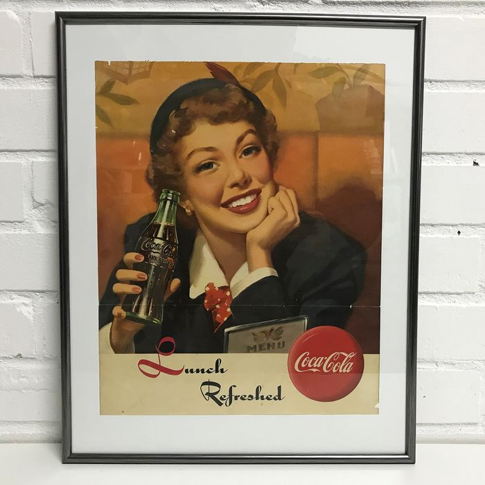 Coca Cola poster from the 1940s / 1950s. - Paper