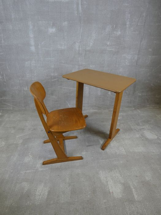 Carl Sasse - Casala - School set (table and chair)