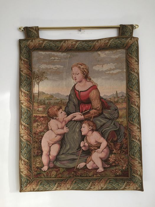 After artist Raphael, and finished by Ridolfo del Ghirlandaio - Tapestry - Renaissance Style - Linen, Textiles