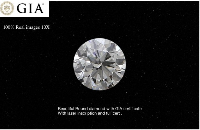 1 pcs Diamond - 0.65 ct - Brilliant, #3757 - I - SI1