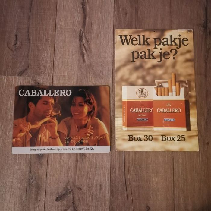 Caballero Tobacco Double-sided Advertising board and mouse pad (2) - Cardboard