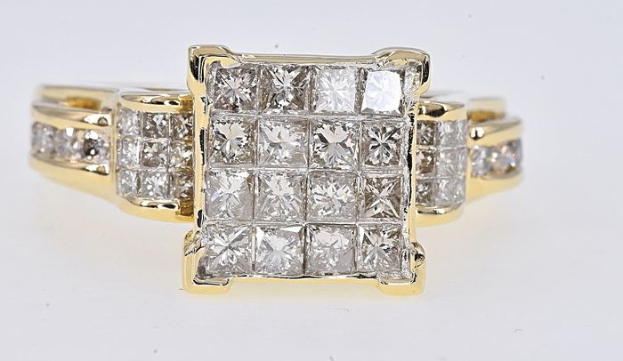 Yellow gold - Ring - 1.92 ct Diamond