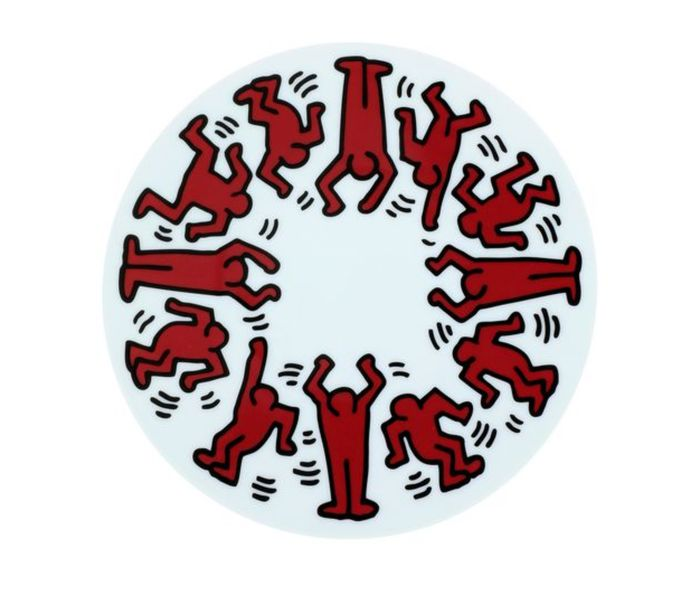 Keithharing - Red on White
