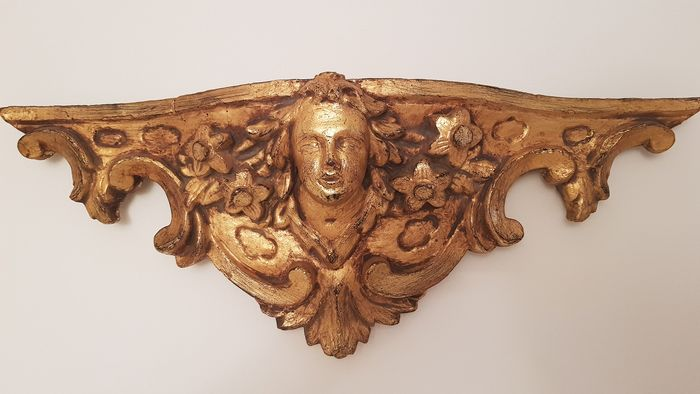 Frieze - golden wood - Early 20th century