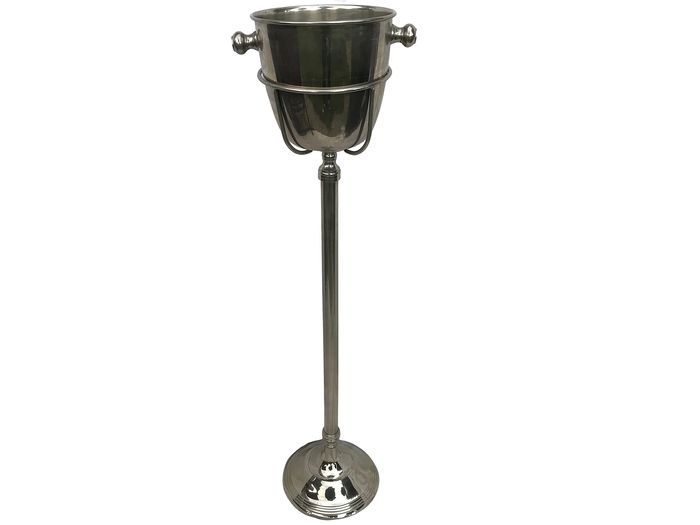 Champagne cooler on metal stand - France