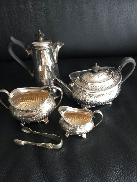 Antique Coffee and Tea Service - Silver Plated - Victorian Style - Silverplate