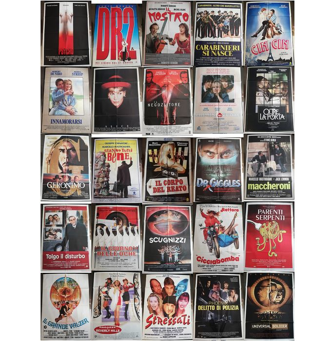 Set Of 25 Original Italian release Movie posters (100x140) - see photos