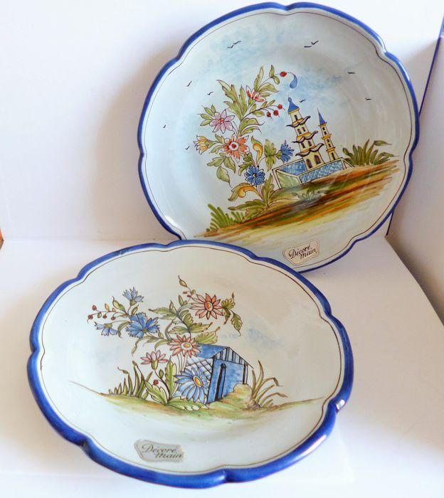 E.Georges - De Nevers - Plates, Decorations (2) - Earthenware
