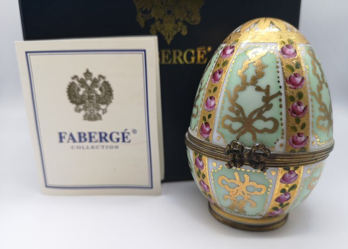 Fabergé Gold Emaille und Jeweled Easter Egg - Porzellan