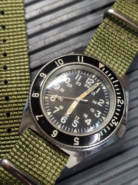 Benrus - Type II Class A - MIL-W-50717 Military Dive Watch - Unisex - 1970-1979