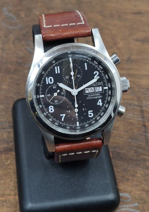 "Hamilton - Automatic Chronograph ""NO RESERVE PRICE"" - 000085 - Homme - 1990-1999"