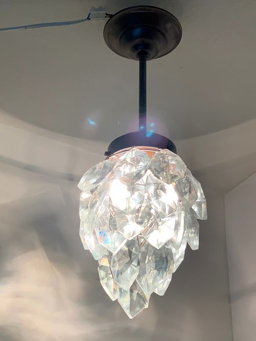 Ceiling lamp - Copper, Crystal