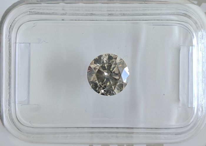 Diamond - 1.03 ct - Briliant - fancy grey - I1, No Reserve Price