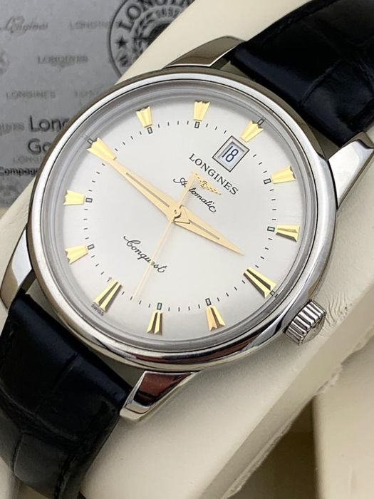 Longines - Conquest Heritage Automatic  - L1.645.4.75.4 - Heren - 2011-heden