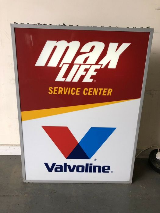 Sign - Valvoline  - Rare Large Valvoline Oil Illuminated Service Centre Dealer Sign Light Box - 1980-1990