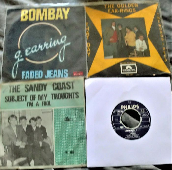 Brainbox & Related, Earth & Fire, Golden Earring, Sandy Coast Famous Dutch Groups of the 60's and 70's - Multiple artists - Multiple titles - 45 rpm Single - 1966/1982