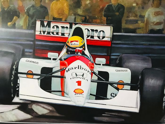 Honda Mc. Laren - Formula One - Ayrton Senna - 2010 - Fine Art Print LIMITED EDITION no. 48/200 Plus free BMW F1 art.