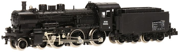 Fleischmann N - 7161 - Steam locomotive with tender - 38 series - NS