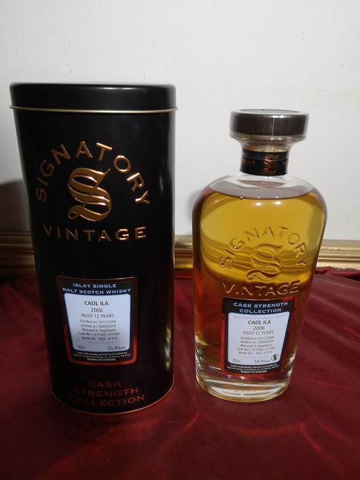 Caol Ila 2006 12 years old cask strength collection - Signatory Vintage - b. 2019 - 70cl