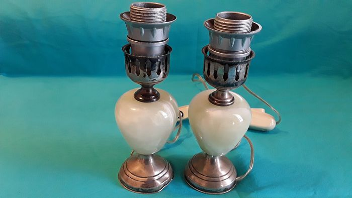 lamps (2) - .800 silver