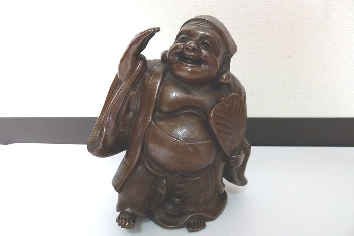 Japanese god ibishu with gambai - Porcelain - Japan - Second half 20th century