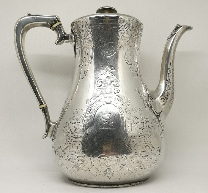 Superb Victorian Silver Teapot - .925 silver - William Holmes, London - England - 1852