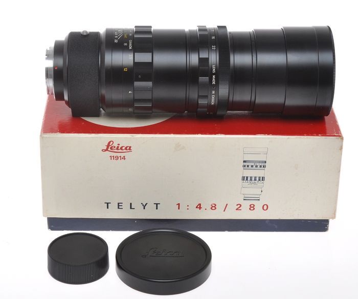 Leica (Leitz) 280mm F:4.8 280/4.8 Telyt last type (III version) for Leica visoflex system, near mint with box