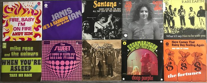 Deep Purple - Rare Earth ‎– Santana - Multiple artists - Every Step Of The Way - Multiple titles - 45 rpm Single - 1971/1975