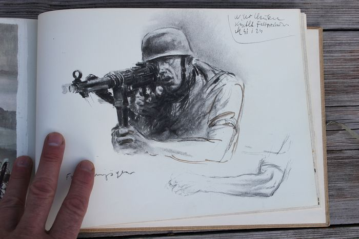 Germany - sketch book Hans Liska - 1944