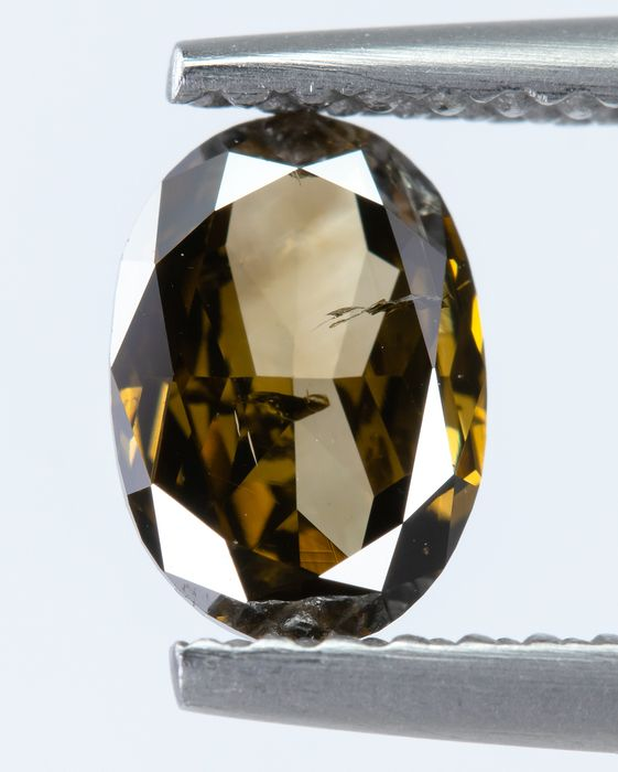 Diamant - 0.65 ct - Natürliches Fancy DEEP Yellowish Brown - I1  *NO RESERVE*