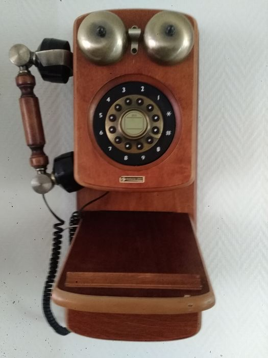 Continental Edison - Telephone - Steel (stainless), Wood- Mahogany