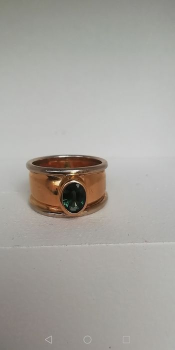 18 kt. Gold, Yellow gold - Ring - 1.00 ct Sapphire