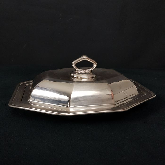 Silverplate serving dish and aperitif skewer from WMF - Silverplate