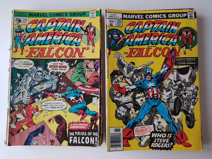 Captain America Issues from #146 Onwards - Includes Mark Jewelers Inserts - Erstausgabe - (2019/1977)