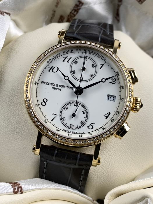 Frédérique Constant - Classic Chronograph Diamonds 0,48CT - FC-291A2RD5 - Mujer - 2011 - actualidad