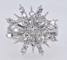 Witgoud - Ring - 0.68 ct Diamant