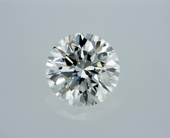 1 pcs Diamond - 0.61 ct - Round - F - SI1