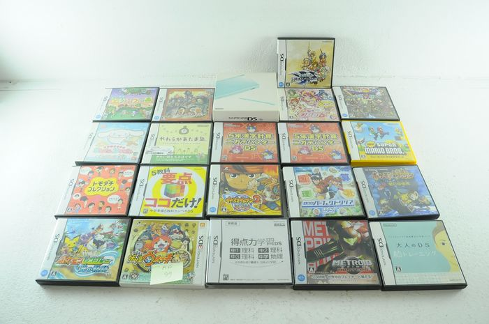 1 Nintendo DS - Nintendo DS boxed w/ 20 Games eg Metroid, Super Mario Bros. Dragon Quest and more (25) - Na caixa original