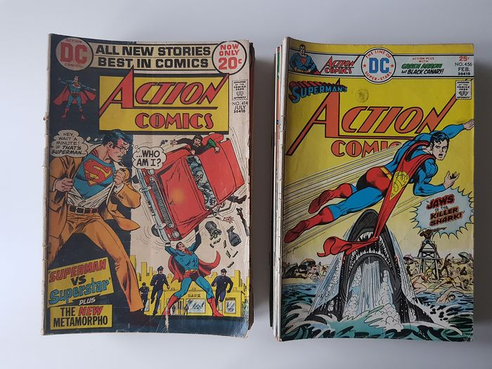 Action Comics Various Issues from #414 Onwards - Includes Mark Jewelers Inserts - Erstausgabe - (1972/1979)