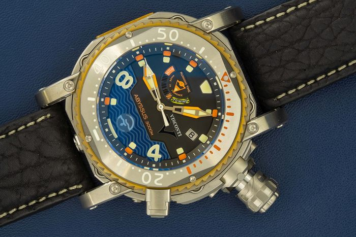 Visconti - Abyssus Pro Dive 3000M INOX Diver Watch EXTRA Strap - W108-00-123-1408 - Homem - NEW