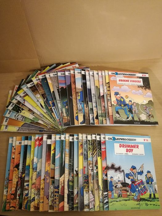De Blauwbloezen 1 t/m 58 - 49 Albums - Softcover - Different editions - (1975/2014)