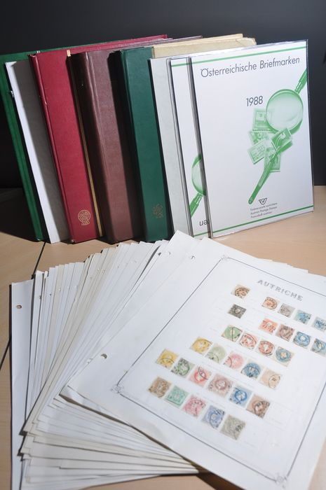 Austria - Batch starting with classics on album pages, stock books, year sets and circular booklets
