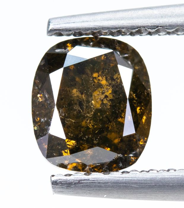 Diamant - 1.13 ct - Natürliches Fancy DEEP Yellowish Brown - I2  *NO RESERVE*