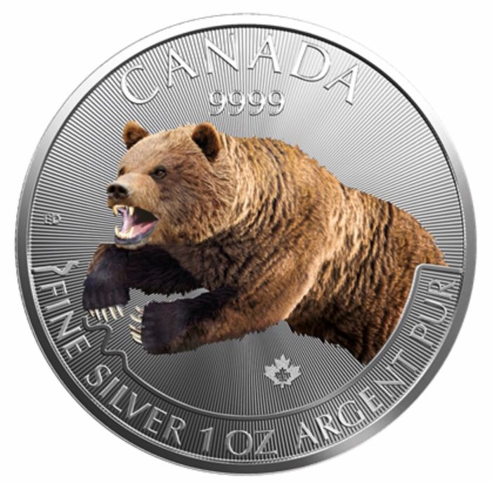 Canada - 5 Dollars 2019 - Predators Serie - Canadian Grizzly - 1 oz - Silver