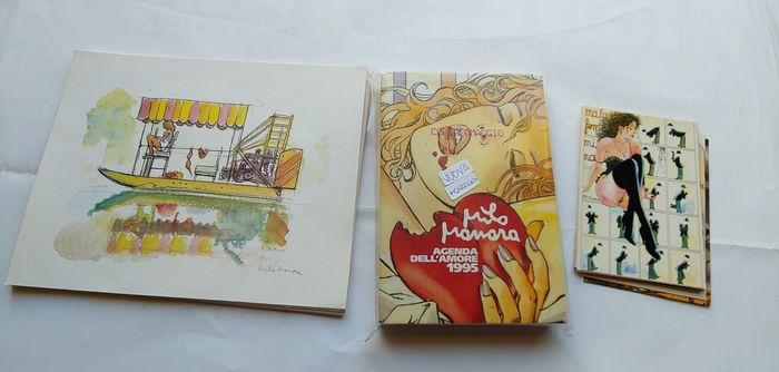 Manara - 16 x stampe / 13 x cartoline / 1 agenda dell' amore 1995 - Loose page - Different editions - (1995)
