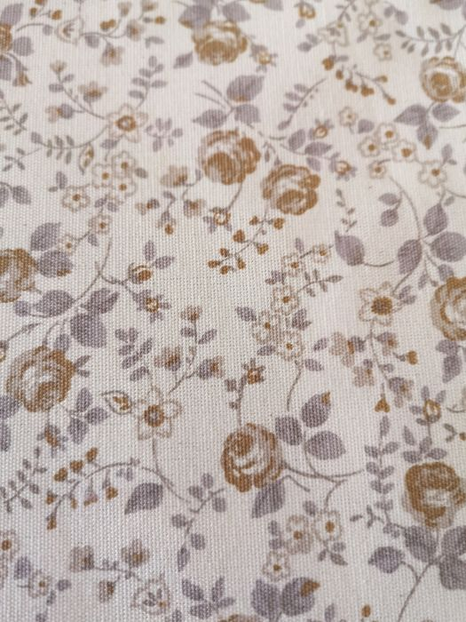 Fabric, light colored flower cretonne, for work, perfect condition. Without use - No reservation price. - Late 20th century